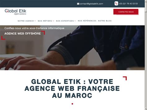 Etik Global global etik agence web au maroc