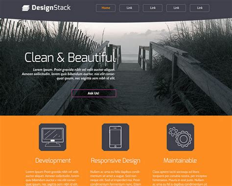100 Best Free Psd Website Templates Of 2014 Noupe Web Layout Templates