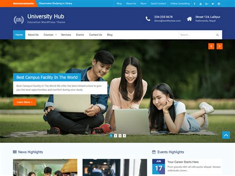 wordpress themes free university theme directory free wordpress themes