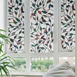 45x100cm leaf grape static cling stained glass window film leaf grape