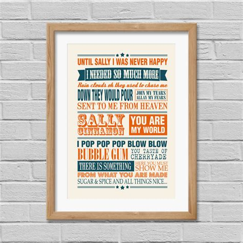 Wedding Song Print by Wedding Song Lyrics Print By Yours For Keeps