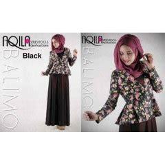 Aqila Khimar Black oliver 7 baju muslim gamis modern