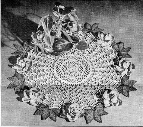 Garden Doily Crocheted Lace Garden Doily