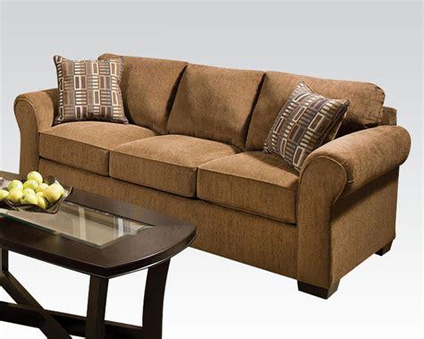 Acme Furniture Sofa by Acme Furniture Fabric Sofa Torilyn Walnut Ac51235