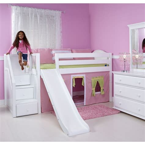 Bunk Bed With Stairs And Slide Interesting Maxtrix King S Castle Bunk Bed With Slide For Atzine