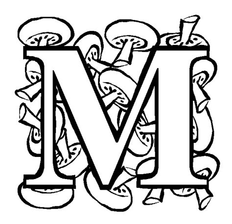 Free Coloring Pages Of M Is For Moon Coloring Picture Of Letter M