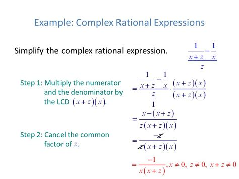 how to simplify rational expressions step by step the final exam review slides ppt download