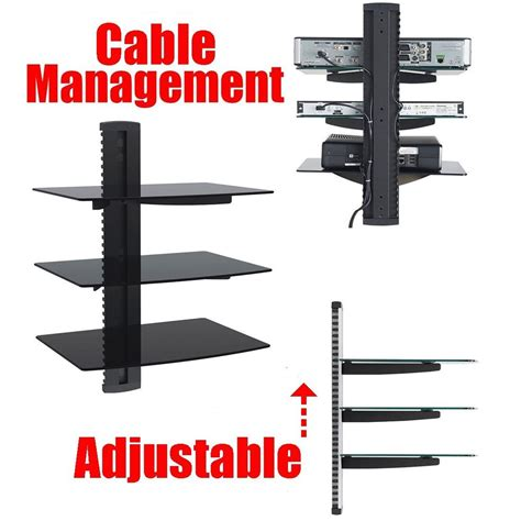 shelves for cable box and dvd player dvd player cable box wall mount 3 shelf stand direct tv