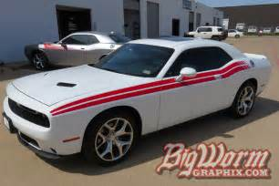 White Dodge Challenger With Stripes 2008 To 2016 Dodge Challenger Rt Style Side Stripes