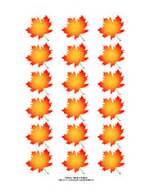 printable maple leaf stickers and labels
