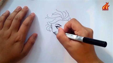 tutorial cara menggambar elsa frozen belajar menggambar karakter elsa frozen dalam 4 menit