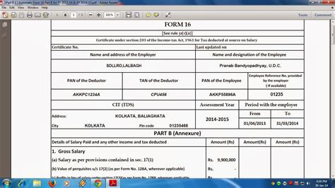 income tax section 16 taxalert net download income tax form 16 for f y 2016 17