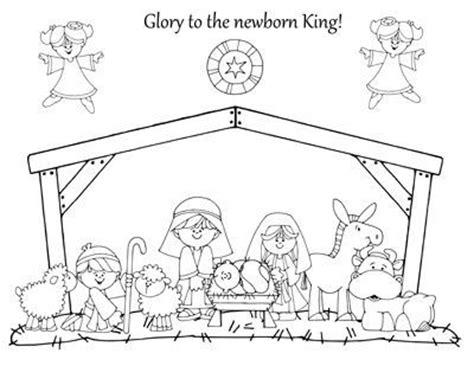 nativity coloring page preschool items juxtapost