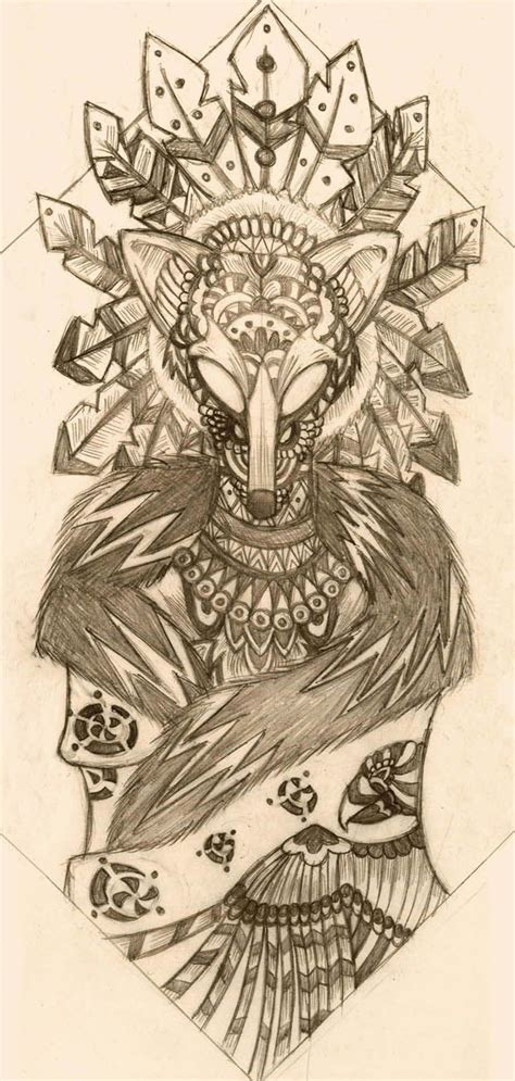 tribal coyote tattoos 43 best coyote drawings images on