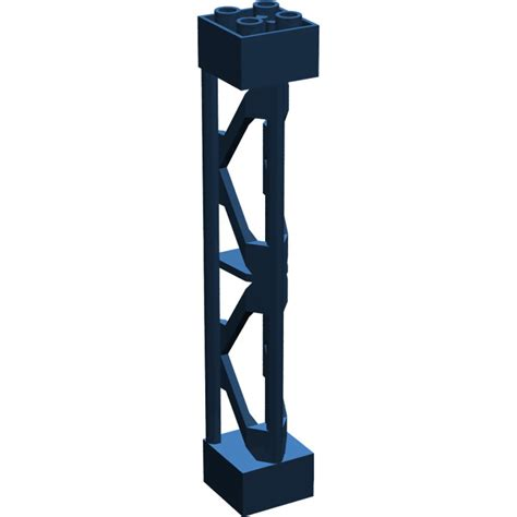 X Support Blue lego blue support 2 x 2 x 10 girder triangular