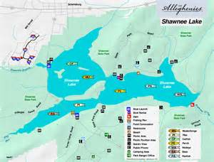 lake map shawnee lake the alleghenies