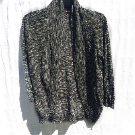 Baju Cardigan Big Size Greywhite 67 sweaters black gray and white knit sweater size large from s closet on poshmark