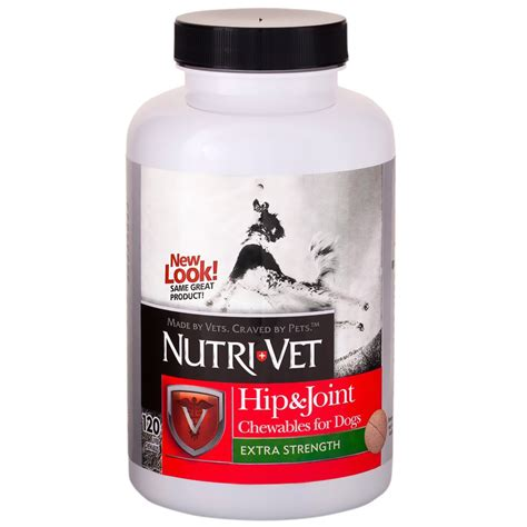 Joint Plus 120 nutri vet hip joint plus for dogs 120 chews