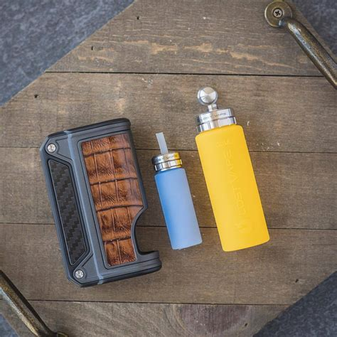 Murah Mod Vapor Vape Therion Dna 75c Black Carbon cover sleeve therion bf dna 75c lost vape delizioso shop