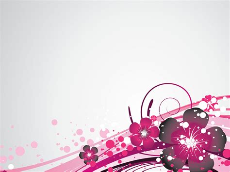 Floral In Pink pink floral on corner powerpoint templates flowers