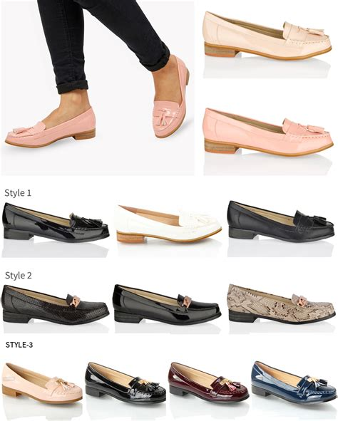 womens smart flat shoes womens flat smart casual formal vinatge loafers