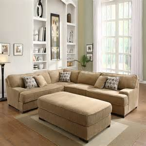 Corduroy Sectional Sofa Tara Chocolate Corduroy Sectional Set