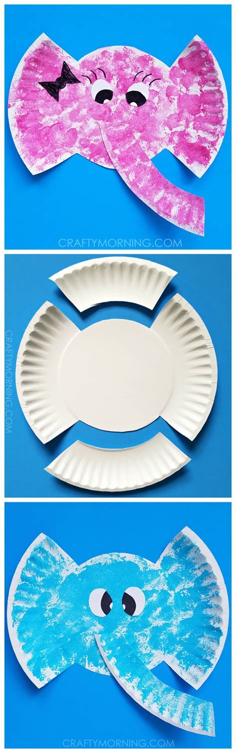 And Craft Paper Plate - paper plate elephant craft elephant crafts craft