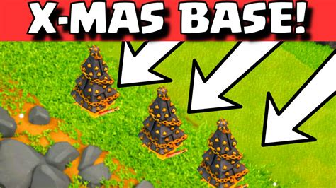 coc christmas layout clash of clans x mas tree base layout christmas tree