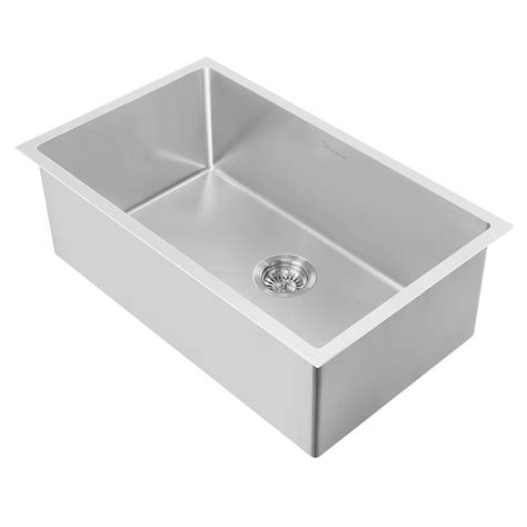 Whitehaus Sinks Kitchen Whitehaus Collection Pearlhaus All In One Freestanding Stainless Steel 30 In 2 Single Bowl