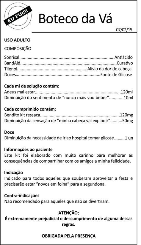 200 Bulas Para Kit Ressaca - R$ 40,00 em Mercado Livre