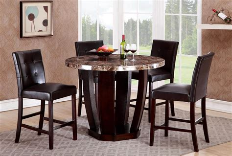 round dining sets ryan 5 pc faux marble round dinette set dining room sets
