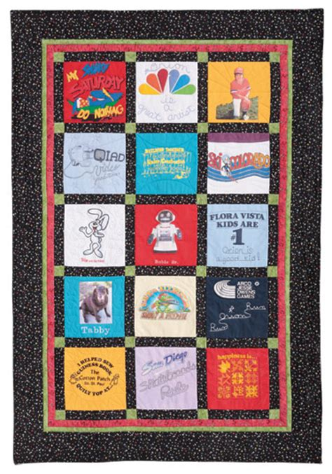 Free T Shirt Quilt Patterns by T Shirt Quilt Eleanor Burns Signature Quilt Pattern