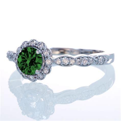 1 5 carat cut emerald and flower vintage