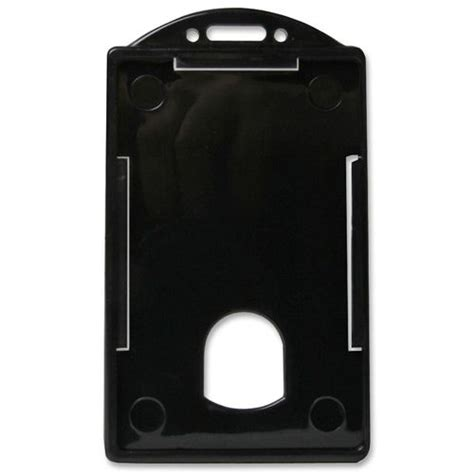 Misc Brand Id Card Holder Thick Horizontalvertical 1 baumgartens vertical id card holder ld products