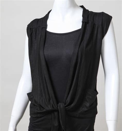 Atasan Wanita Sweater Ro Sweater Wanita Rajut Hitam Dan Navy model cardigan tanpa lengan trend 2015