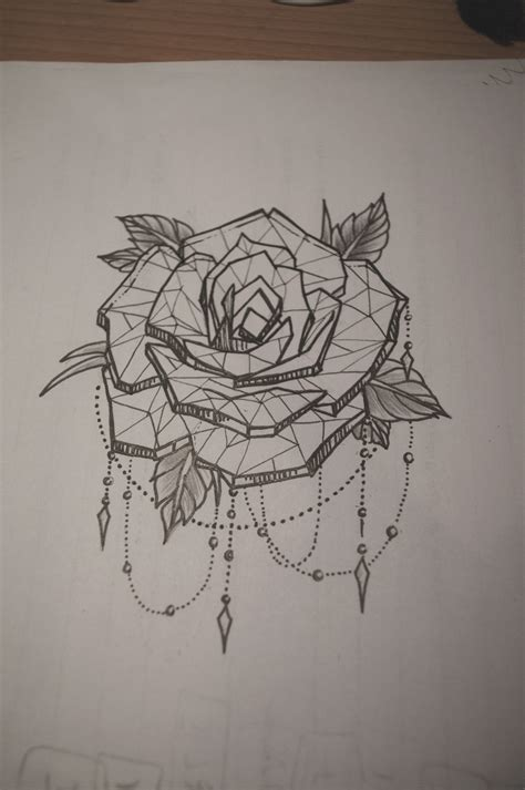 chain of roses tattoo with dot work chains tattoos