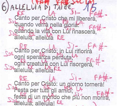 alleluia ed oggi ancora testo canti liturgici