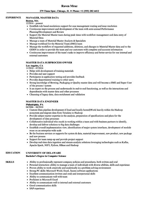 mdm data analyst description resume template best