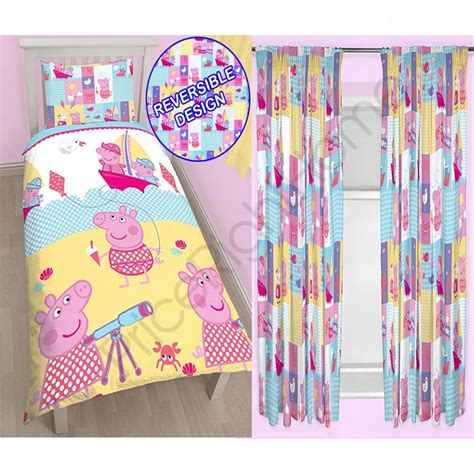 peppa pig curtains and bedding peppa pig nautical bedding curtains range in single