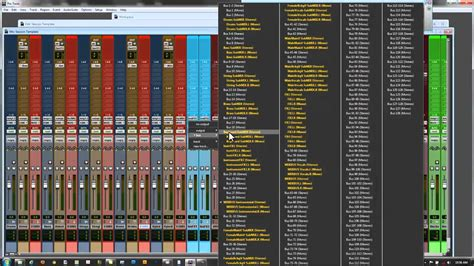 Pro Tools 10 9 8 Mixing Template And Techniques Detailed Setup Youtube Pro Tools Templates