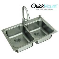 33 Kitchen Sink Shop Moen Kelsa 33 In X 22 In Basin Stainless Steel Drop In Or Undermount 2