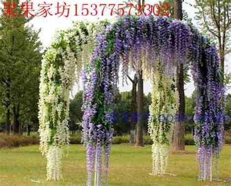 Wedding Arch With Wisteria by Artificial Flowers Beans Rattan Wisteria Wedding Arch