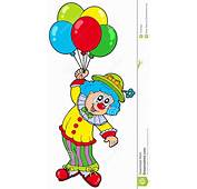 Funny Smiling Clown With Balloons Stock Photo  Image