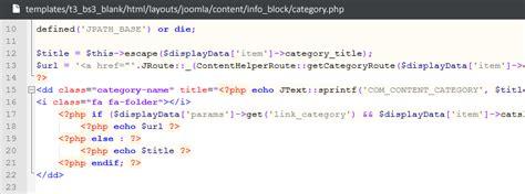 joomla category blog layout override extend com content t3 joomla template framework