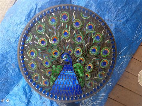 mosaic pattern peacock peacock mosaic table oh my gosh how cool would this be