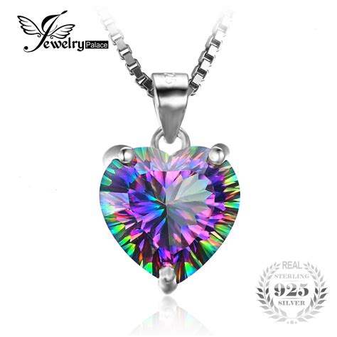 Seal Pendant Personal Alarm Shocks Attackers by Jewelrypalace 4 35ct Genuine Rainbow Mystic Topaz