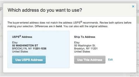 How To Include An Apartment Number In An Address Buy Usps Shipping Labels On Etsy Etsy Help
