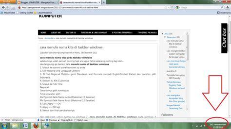 cara format ebook windows 7 cara menulis nama kita di taskbar windows komputer dan