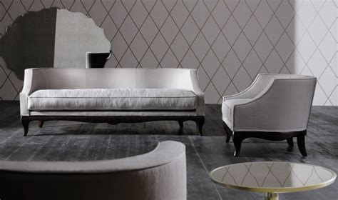 the low lying sofa with fabric upholstery margherita