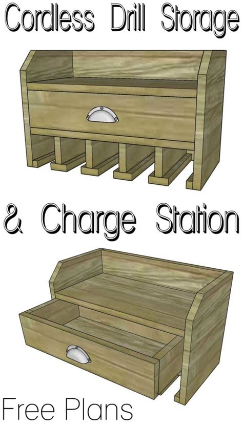 charging station plans cordless drill storage charging station her tool belt